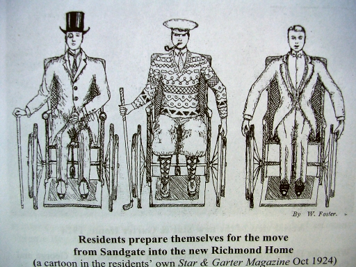 Cartoon of disabled verterans