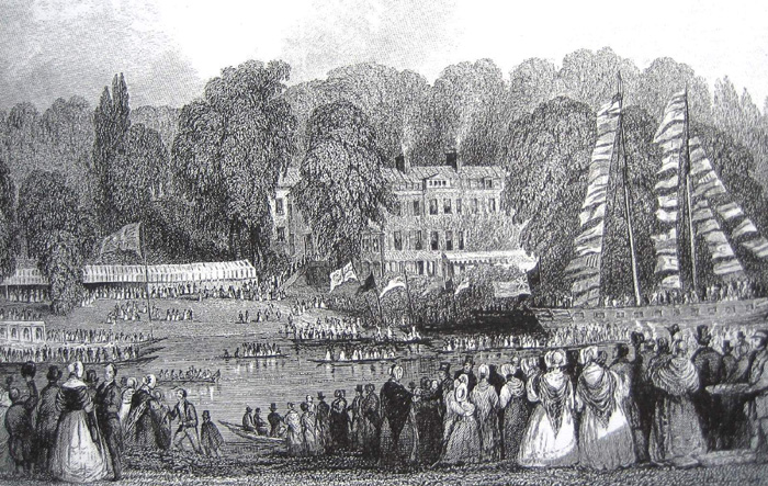 Queen Victoria visits Buccleuch House in 1842