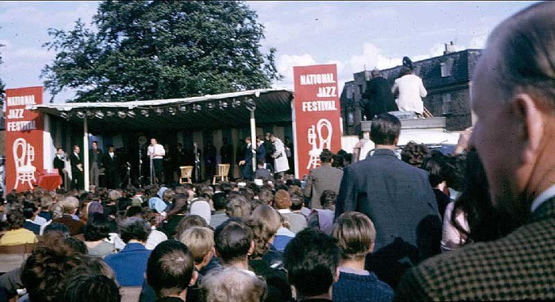 National Jazz Festival 1963 Front Stage