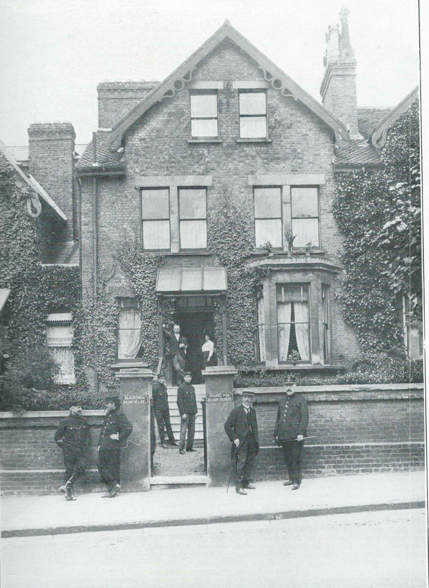 The Soldiers' House on Richmond Hill was set up by workers and managers of the Pelabon Munitions Factory in Twickenham as a patriotic effort to provide for Belgian soldiers on leave