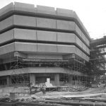 The first Public Record Office building in Kew, under construction in 1975